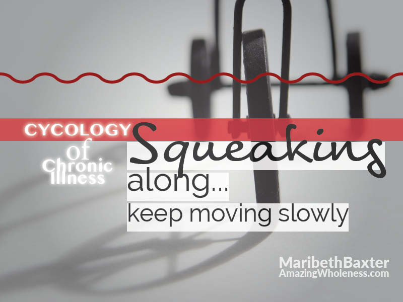 cycology of chronic illness - keep squeaking along, keep moving slowly