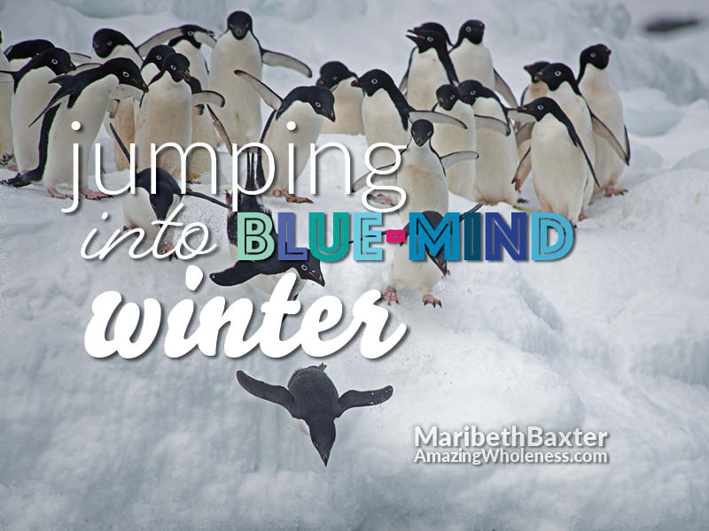 jumping into blue-mind winter