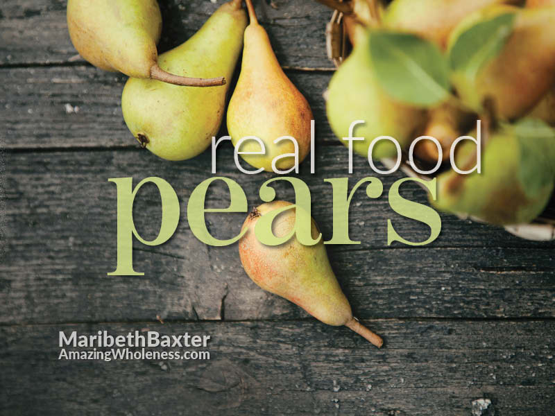 real food - pears
