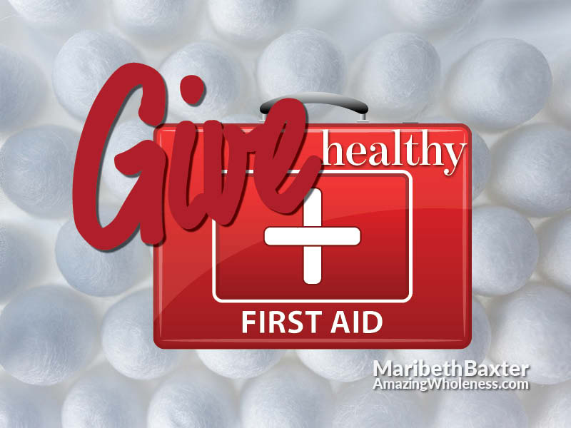 give healthy first aid