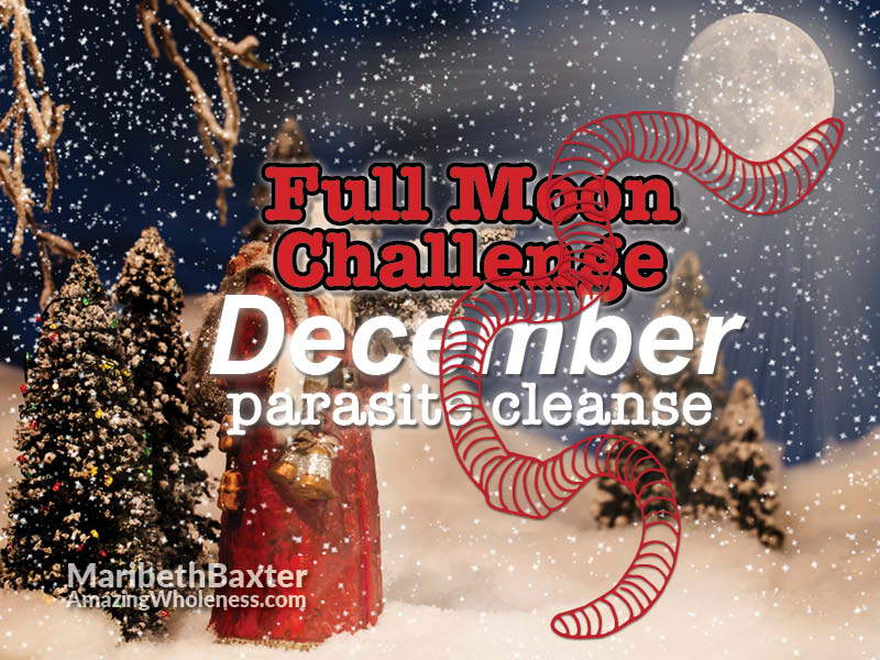 December full moon challenge, parasite cleanse