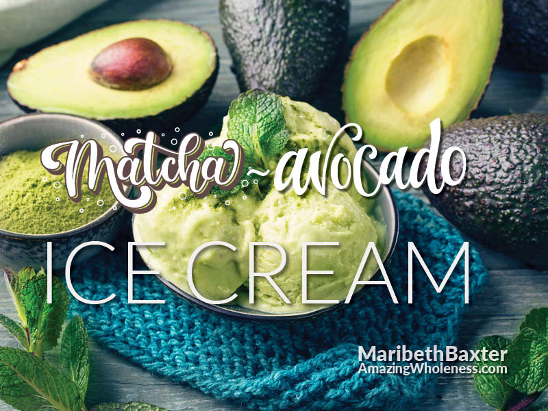 Addicting avocado matcha ice cream, dairy-free and sugar-free