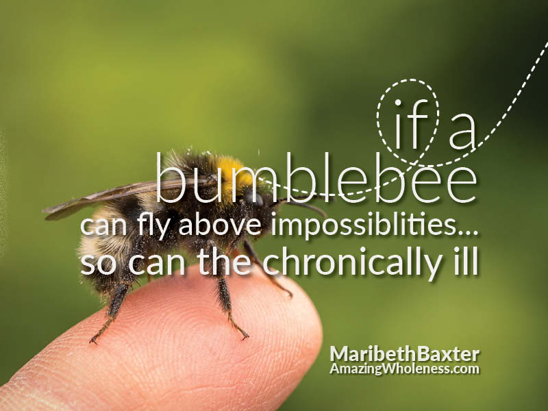If a bumblebee can fly, so can the chronically ill.