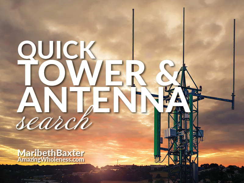 Quick search for cellular towers and antennas